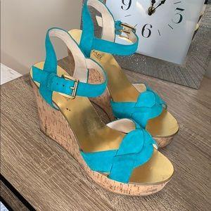 Shoes - Teal Michael kors wedge heels